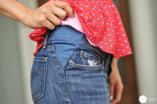Ingenious Tricks For Your Clothes small jeans trick