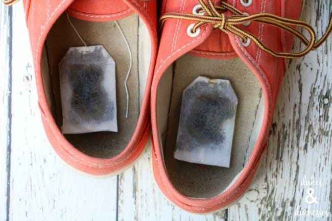 Ingenious Tricks For Your Clothes tea bags in shoes