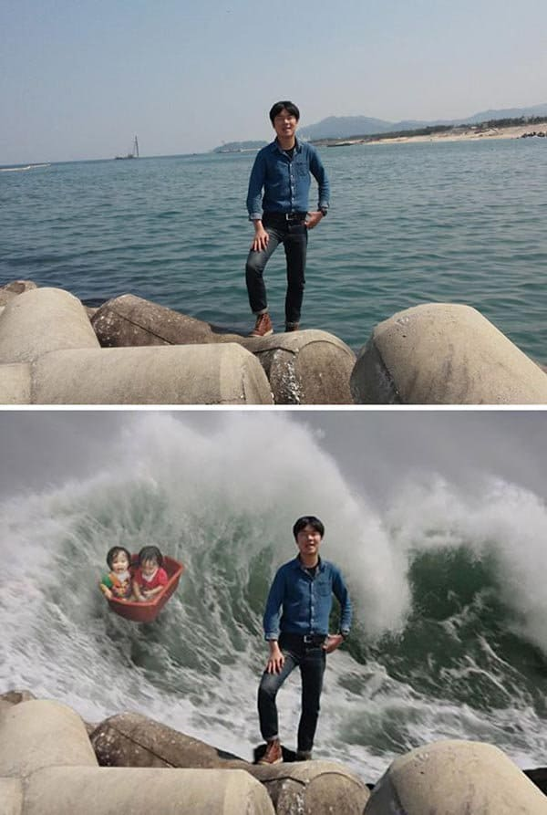 Korean Photoshop Masters make the background more thrilling