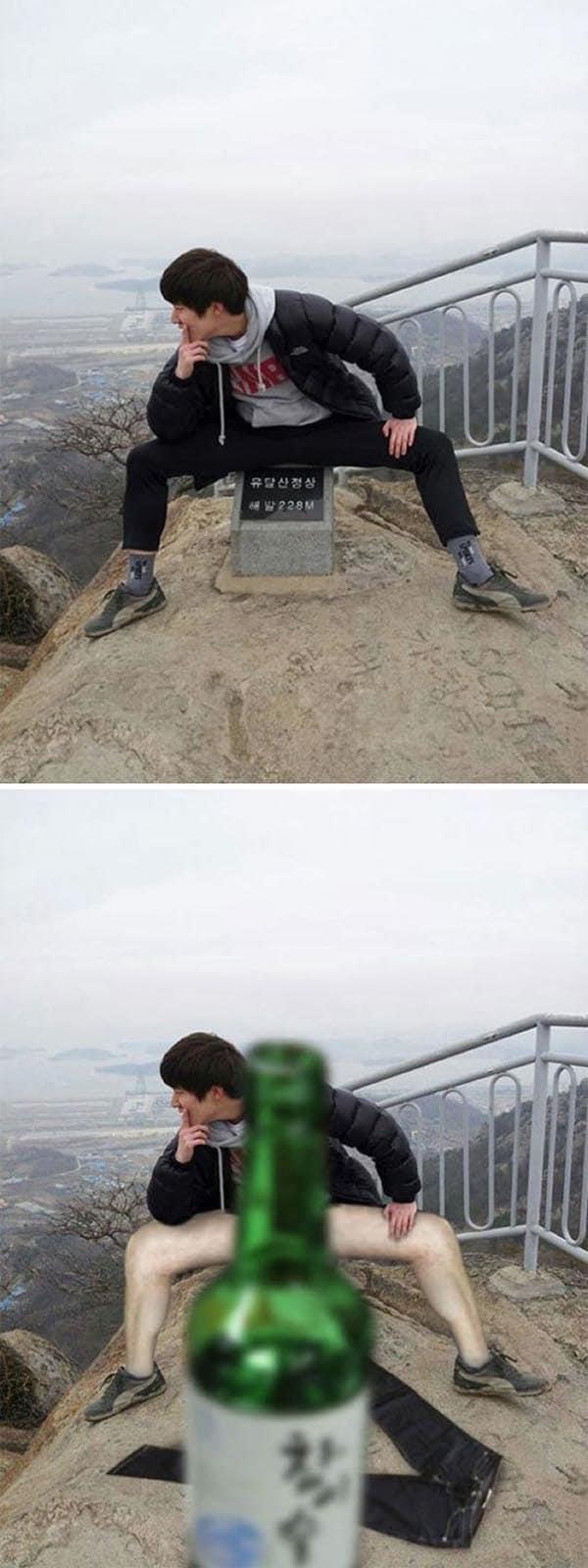 Korean Photoshop Masters please lower the pants