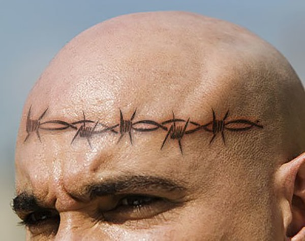 Meanings Of Prison Tattoos barbed wire