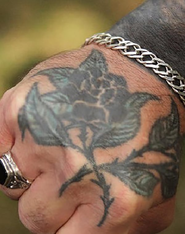 Meanings Of Prison Tattoos rose with thorns