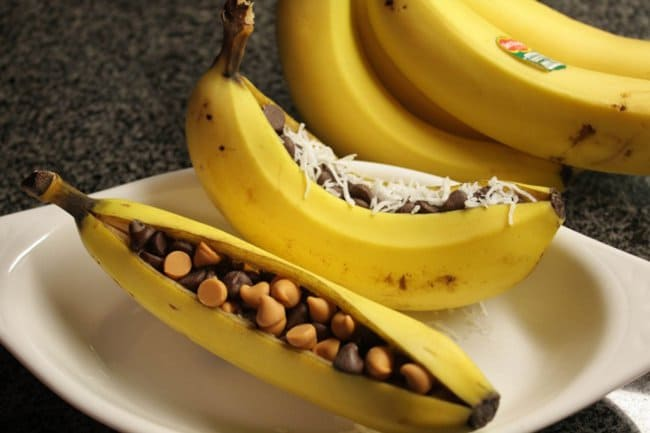 New Ways To Eat Your Favorite Snacks grilled bananas chocolate nuts