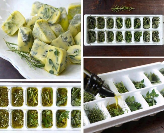 New Ways To Eat Your Favorite Snacks herbs ice cube trays