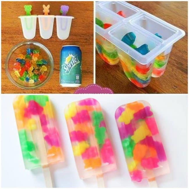 New Ways To Eat Your Favorite Snacks sprite gummy bears ice pops