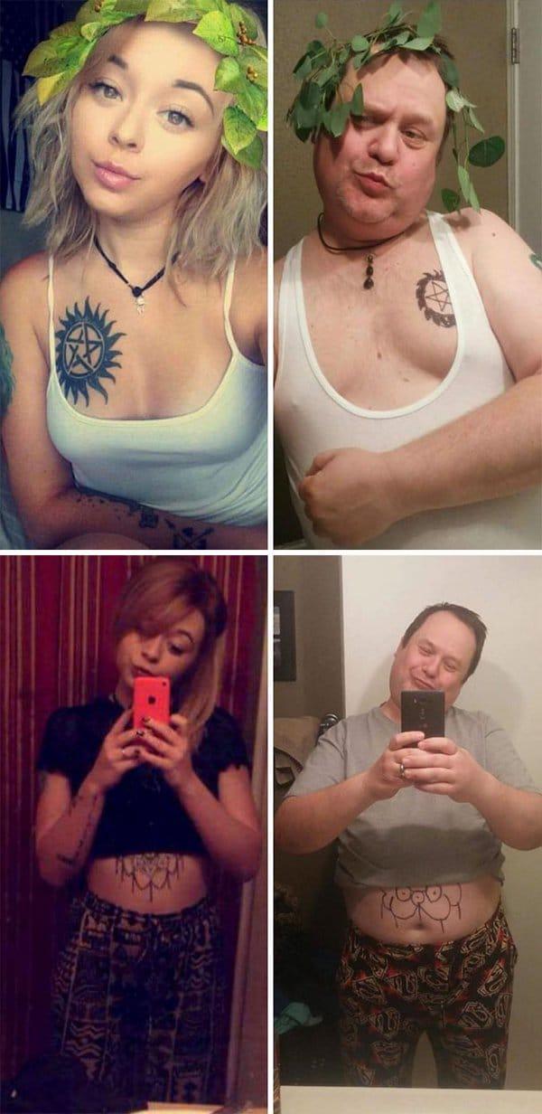 Parents Trolled Their Kids dad trolls daughters selfies