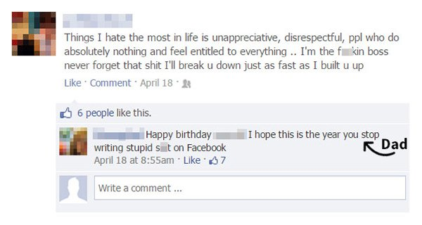 Parents Trolled Their Kids hope this is the year you stop writing