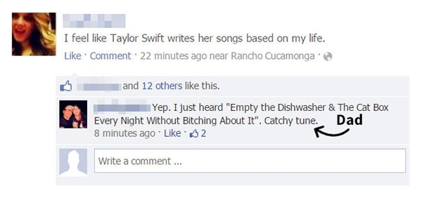 Parents Trolled Their Kids taylor swift songs
