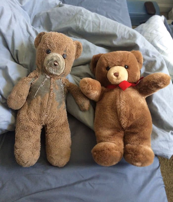 Pictures That Prove Time Changes Everything identical teddy bears years apart