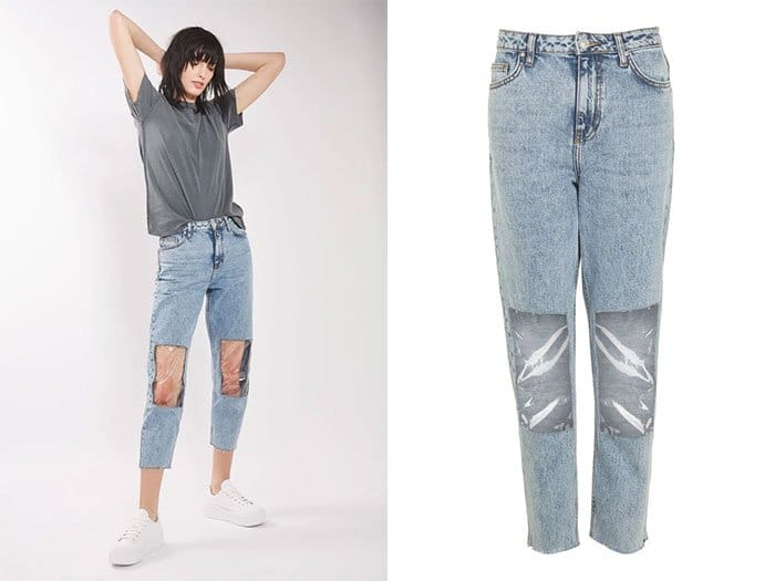 Ridiculous Clothing Items clear panel mom jeans