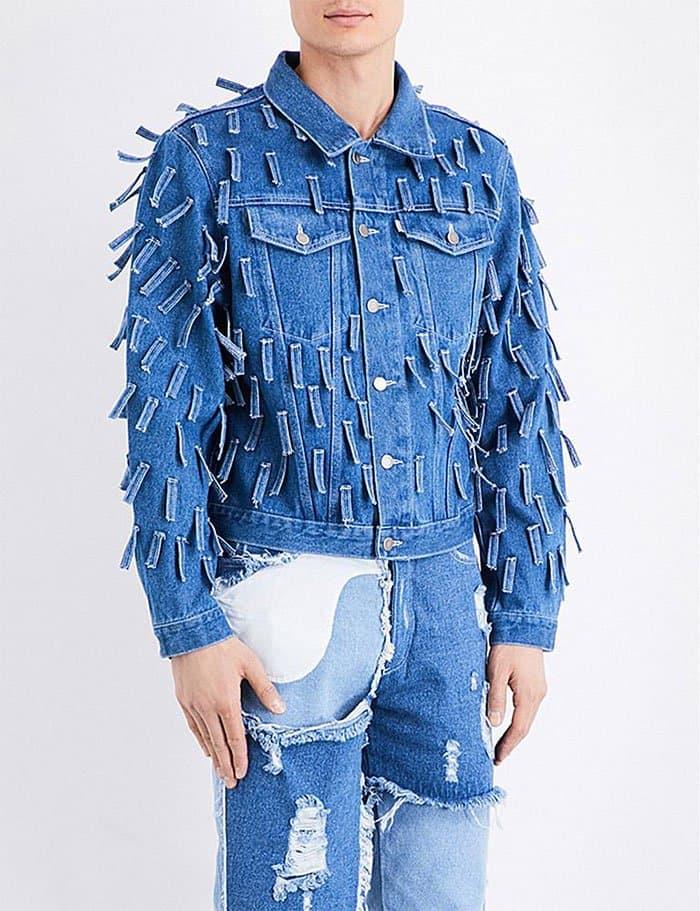 Ridiculous Clothing Items fringed denim jacket