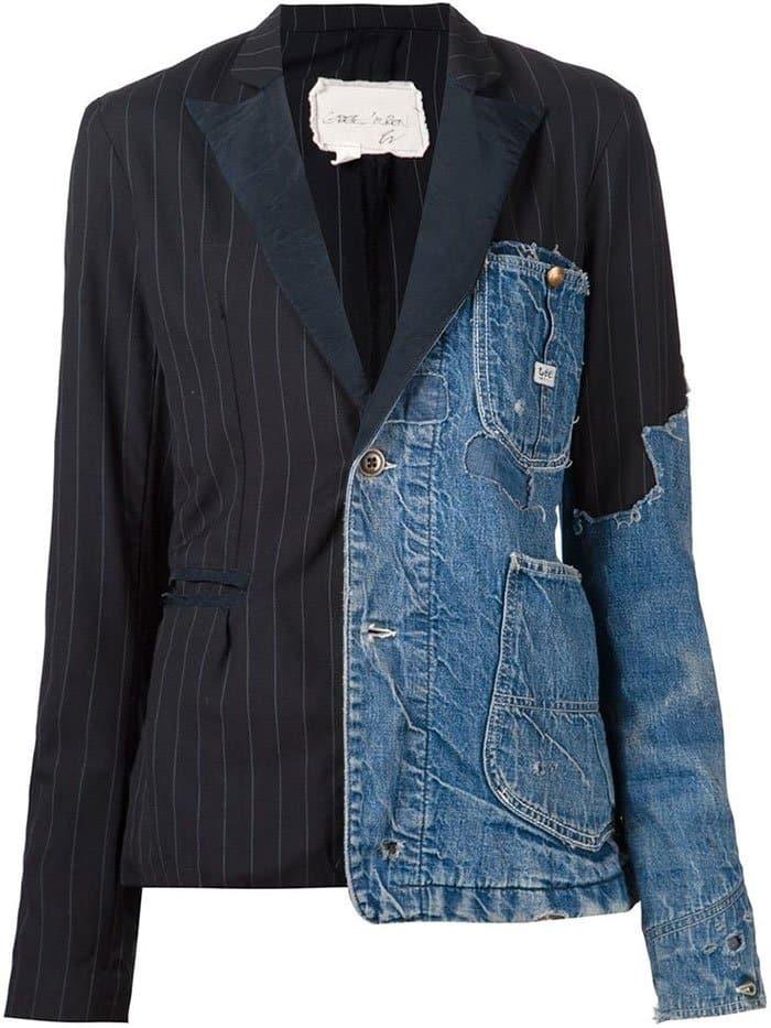 Ridiculous Clothing Items half denim half normal blazer