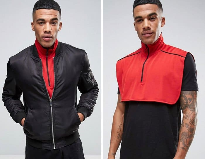 Ridiculous Clothing Items high neck zip colar