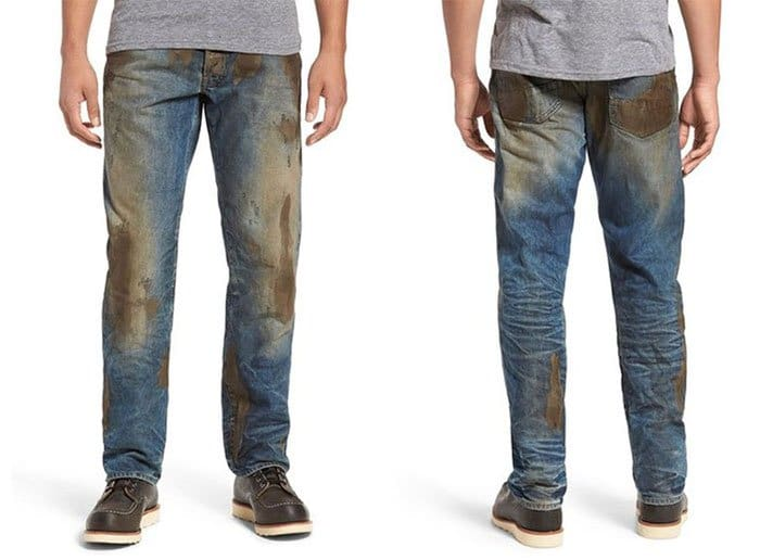 Ridiculous Clothing Items muddy jeans