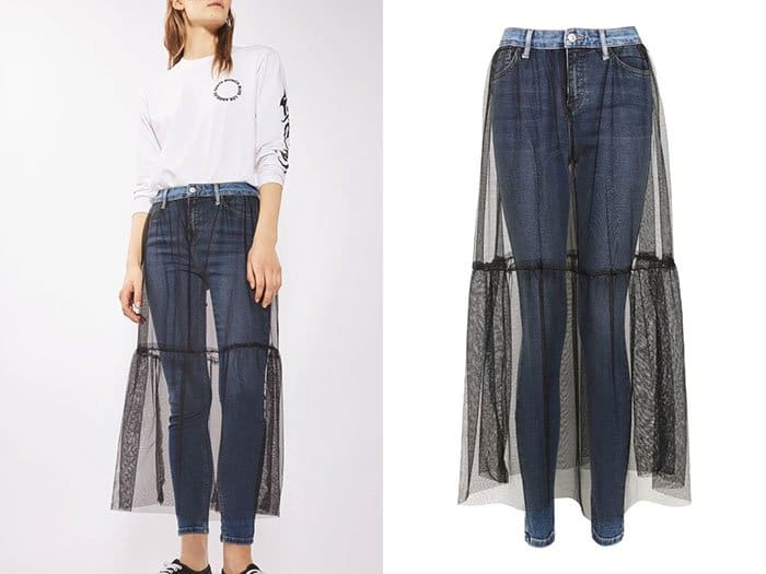 Ridiculous Clothing Items tulle skirt and jean combo