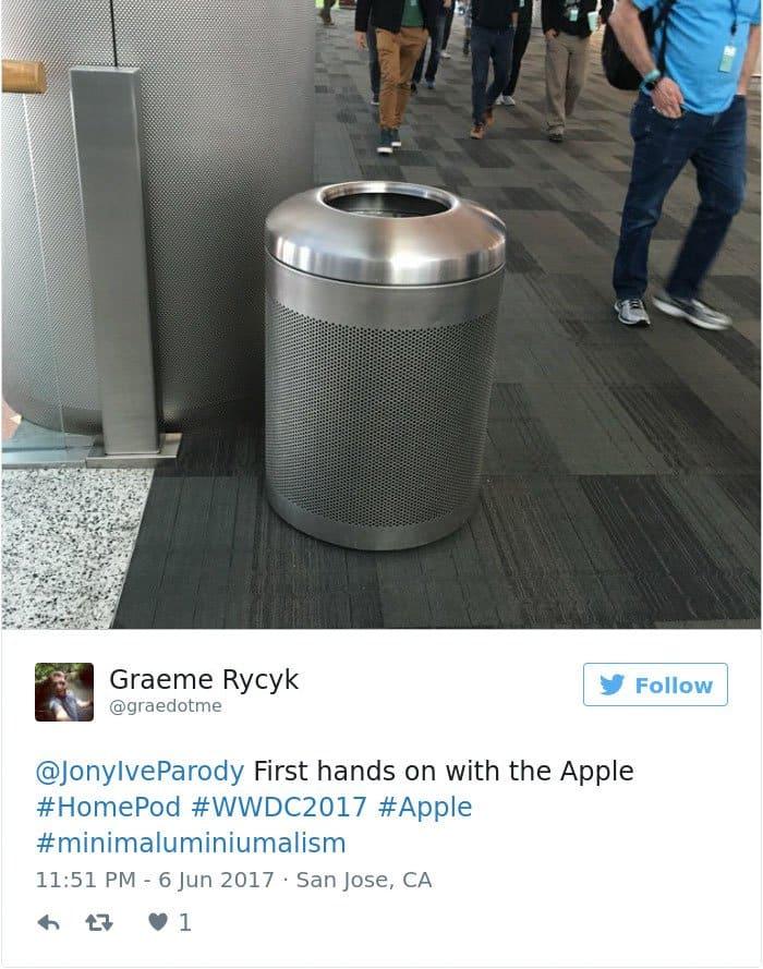 apple's homepod design reactions bin