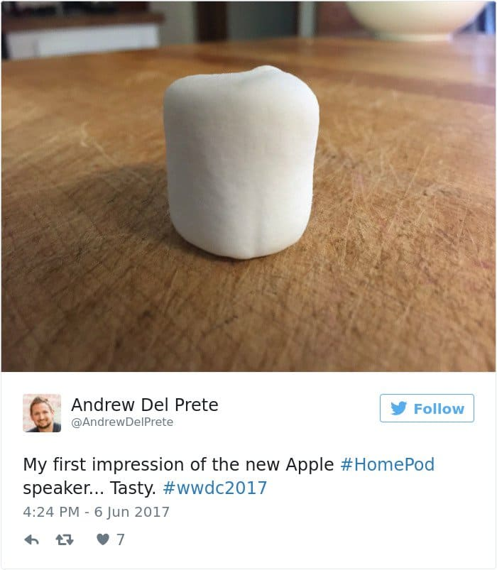 apple's homepod design reactions marshmallow