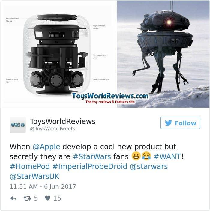 apple's homepod design reactions star wars
