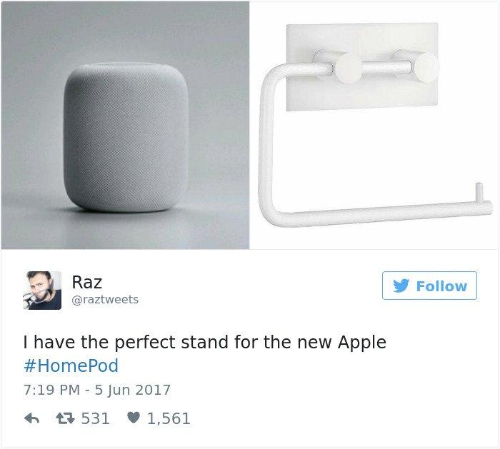 apple's homepod design reactions toilet roll holder