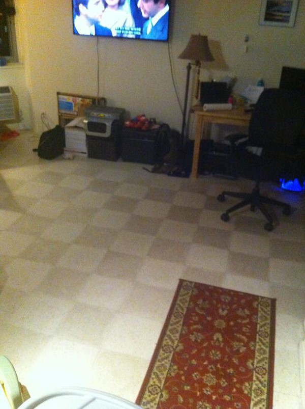 clean half the floor Why Being Married Is The Best