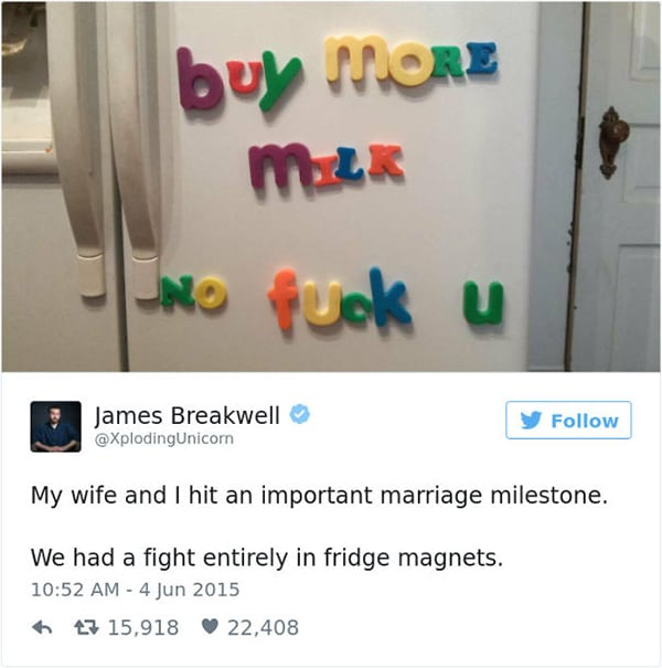 fridge magnet arguements Why Being Married Is The Best
