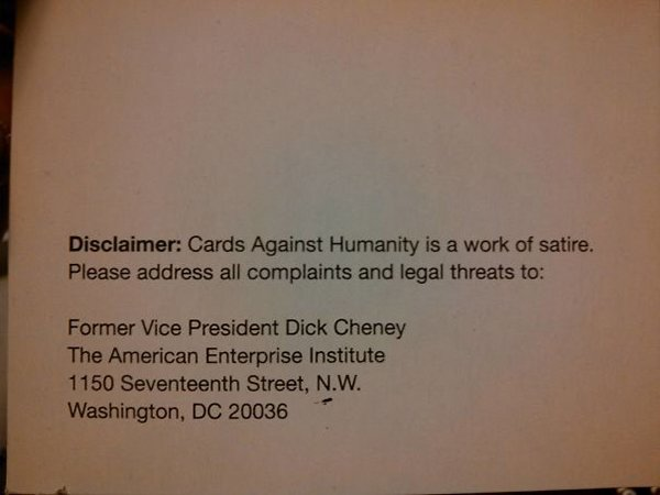 funny product instructions cards against humanity satire