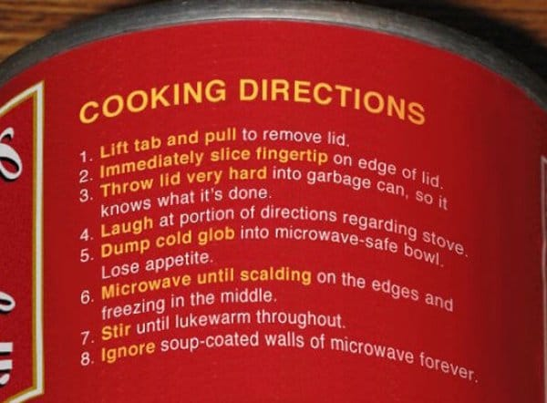 funny product instructions cooking soupfunny product instructions cooking soup