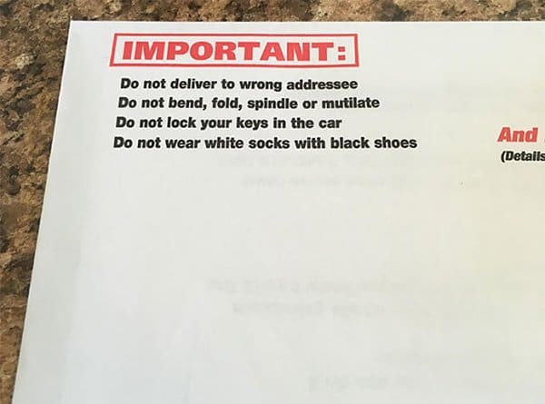 funny product instructions junk mail instructions