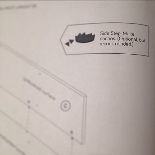 funny product instructions make nachos