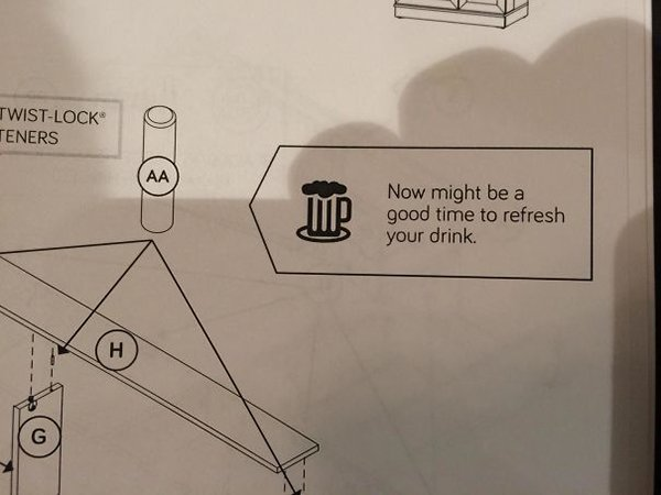funny product instructions refresh your drink
