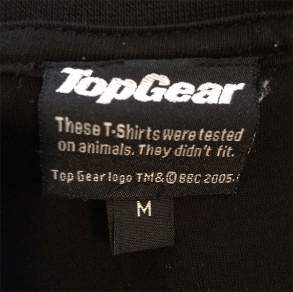 funny product instructions top gear tested on animals