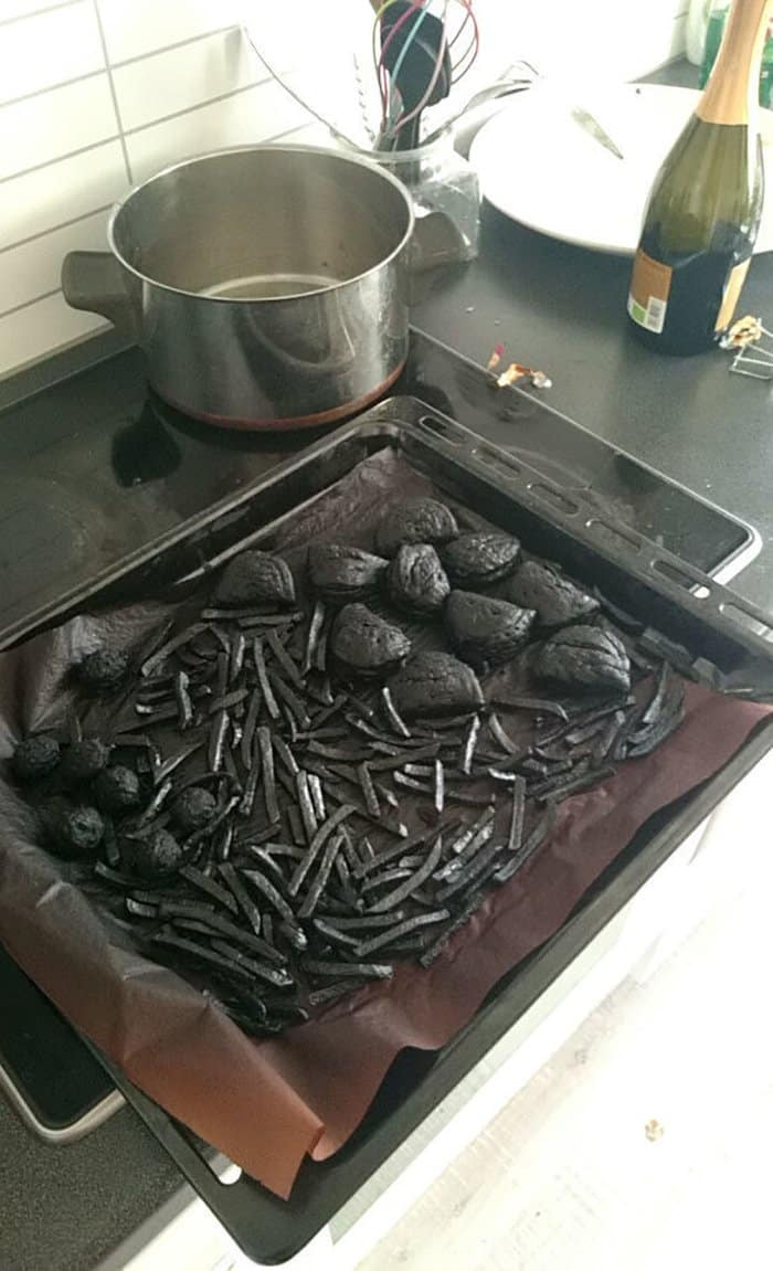 hilarious kitchen fails burnt food