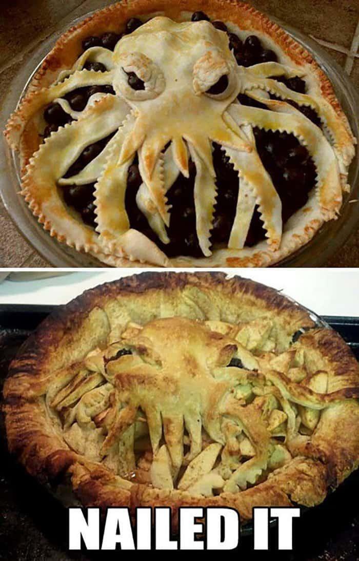 hilarious kitchen fails octopus pie
