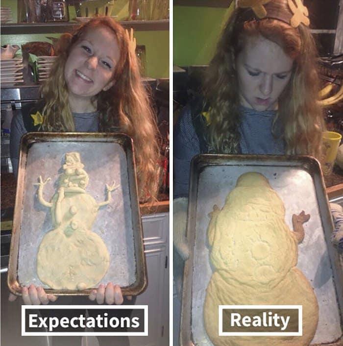 hilarious kitchen fails snowman