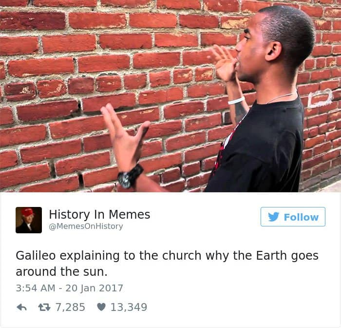 history memes explaining to the church