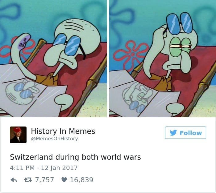 history memes switzerland during the wars