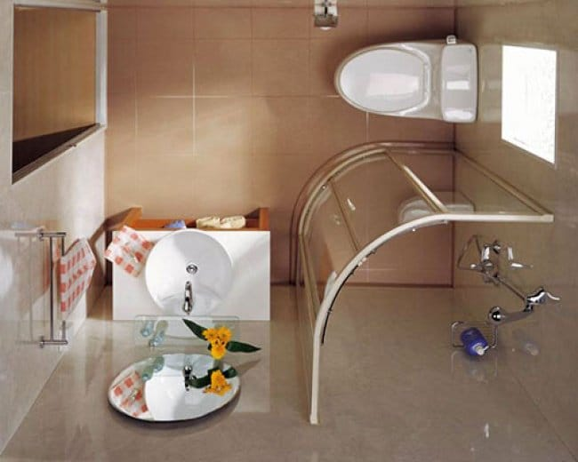 ideas-for-small-bathrooms spacious shower cubicle