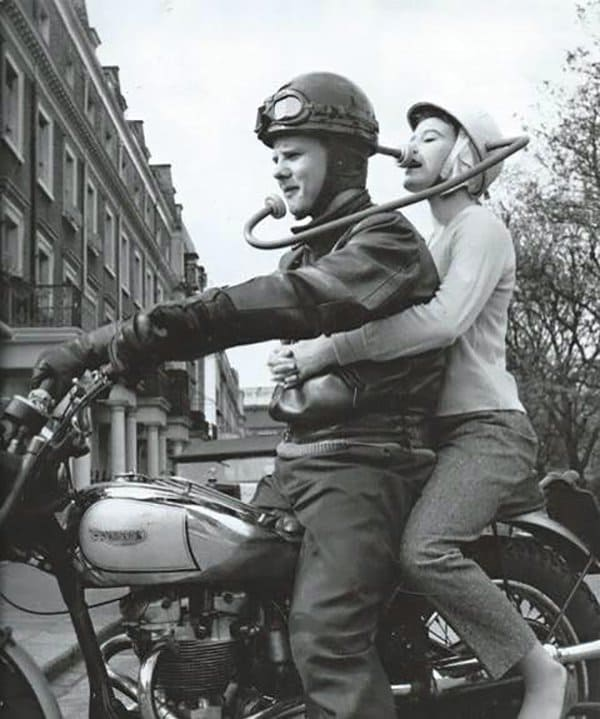 intriguing images motorbike helmet communication