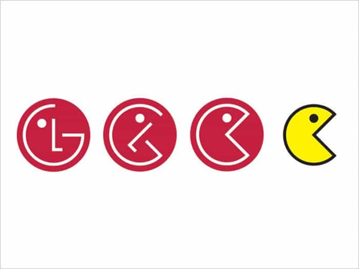things you never noticed LG logo pacman