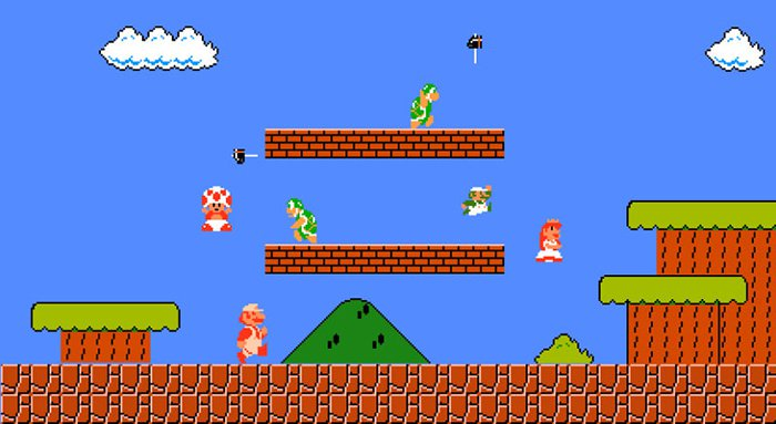 things you never noticed super mario mountains
