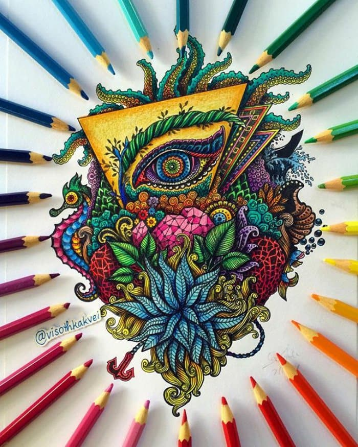 visoth kakvei doodles colorful collage