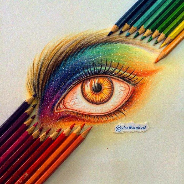 visoth kakvei doodles eye