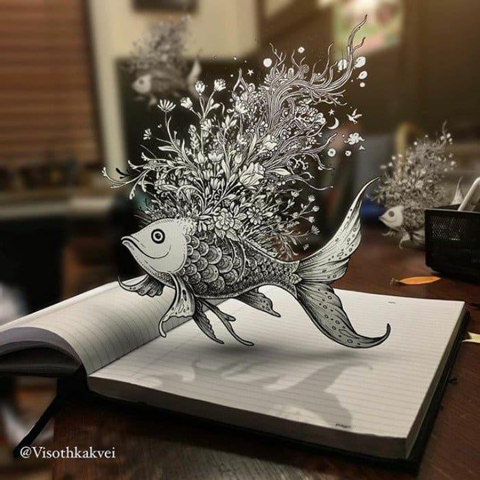 visoth kakvei doodles fish