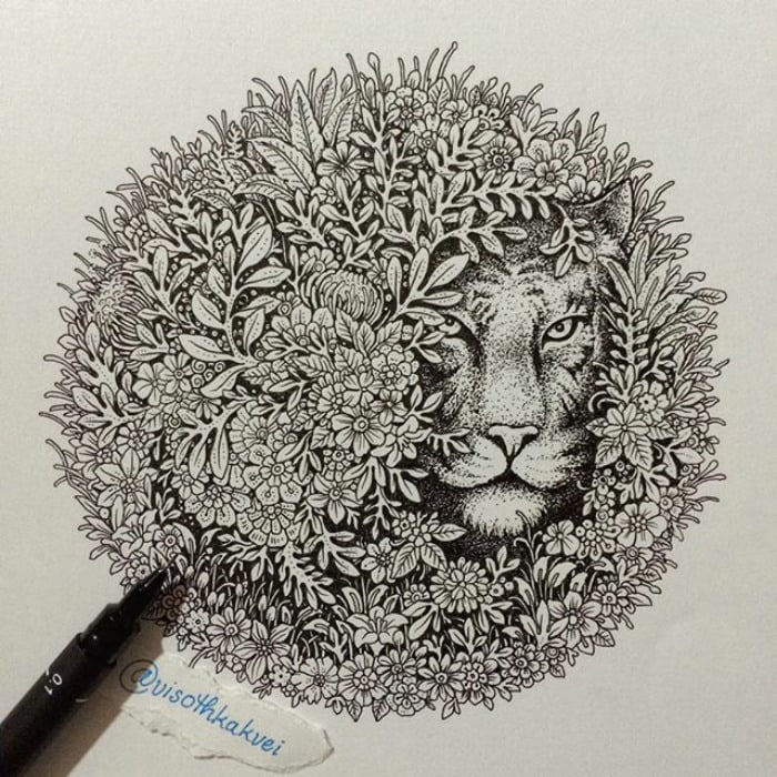 Cambodian Artist Visoth Kakvei Is Taking Doodling To