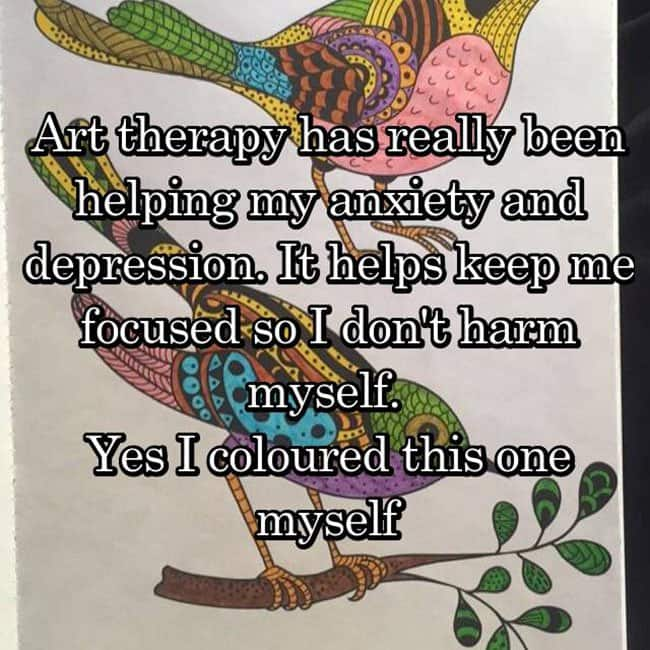 Anxiety Hacks art therapy