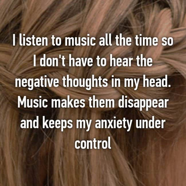 Anxiety Hacks listen to music