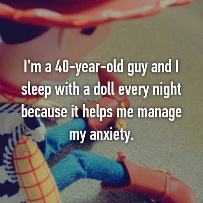 Anxiety Hacks sleep with a doll
