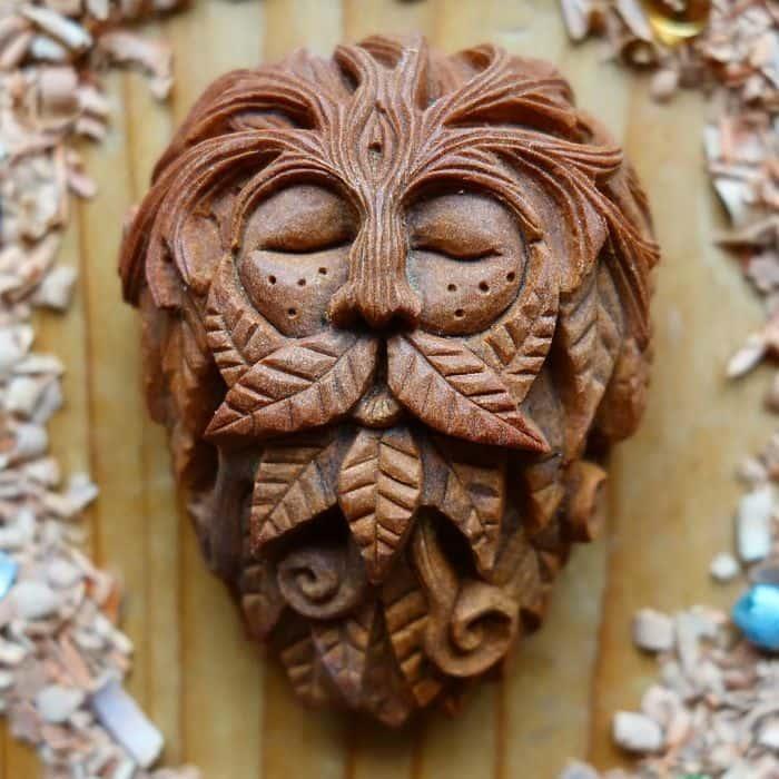 Artist Carves Avocado Pits forest lio