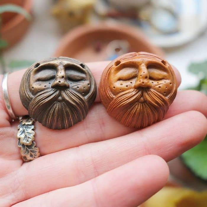 Artist Carves Avocado Pits same design diffferent colorsArtist Carves Avocado Pits same design diffferent colors