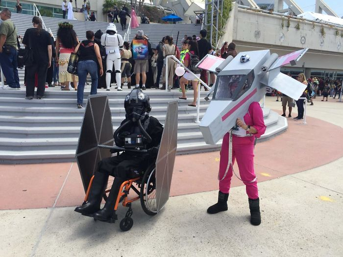Best Cosplays From San Diego Comic Con wheelchair TIE pilot